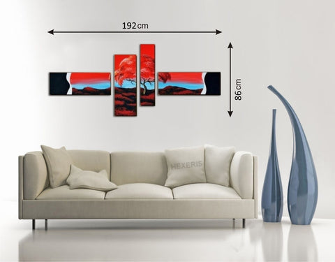 Framed Canvas Multi Panels Landscape - Amazing Curtains