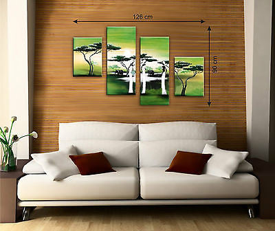 Green Canvas Multi Panel Pictures - Amazing Curtains
