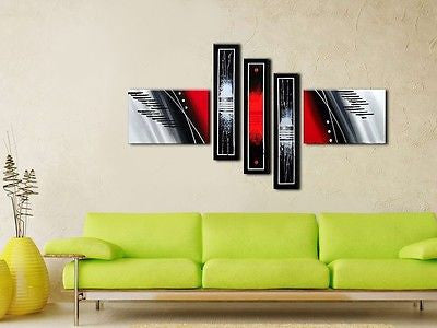 Framed Large Multi Panel Canvas Abstract Hand Painted - Amazing Curtains
