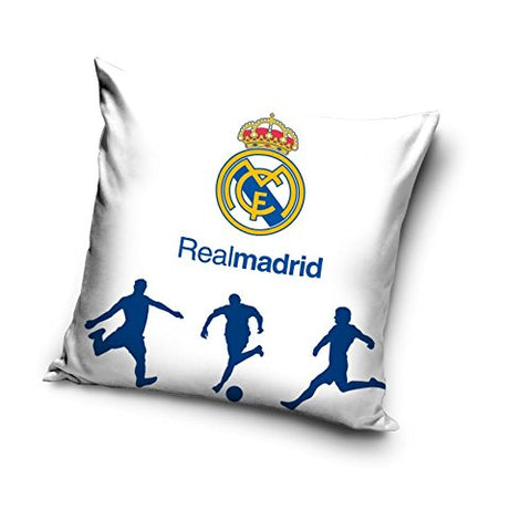 White Cushion Cover - Real Madrid - Amazing Curtains