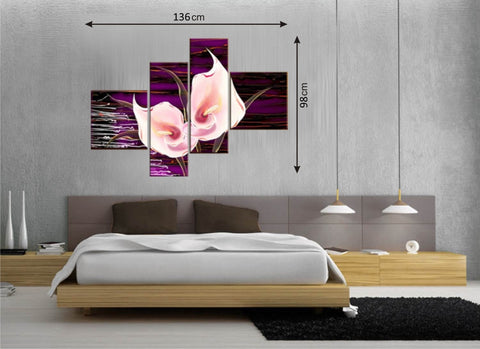 4pcs Picture Panels Purple/Pink - Amazing Curtains