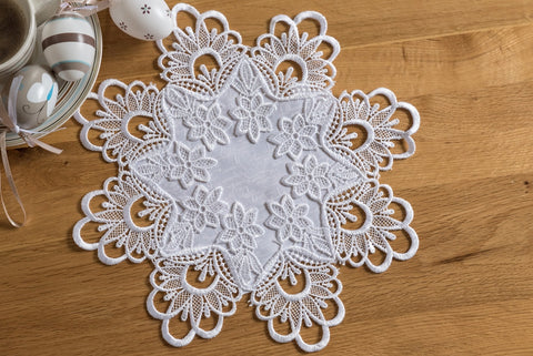 White Doilies with Lace - 2 sizes - Amazing Curtains