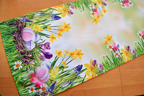 Table Runner with Easter Eggs 40 x 140cm - Amazing Curtains