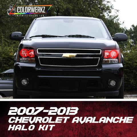 2007-2013 Chevrolet Avalanche Color-Chasing Halo Kit LED headlight kit  AutoLEDTech Colorwerkz Oracle Starry Night Flashtech