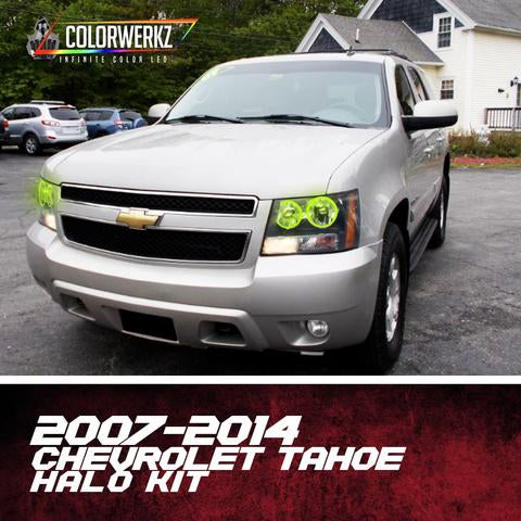 2007-2014 Chevrolet Tahoe Color-Chasing Halo Kit LED headlight kit  AutoLEDTech Colorwerkz Oracle Starry Night Flashtech