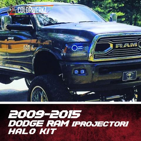 2009-2015 Dodge Ram Color-Chasing Halo Kit (Projector) LED headlight kit  AutoLEDTech Colorwerkz Oracle Starry Night Flashtech