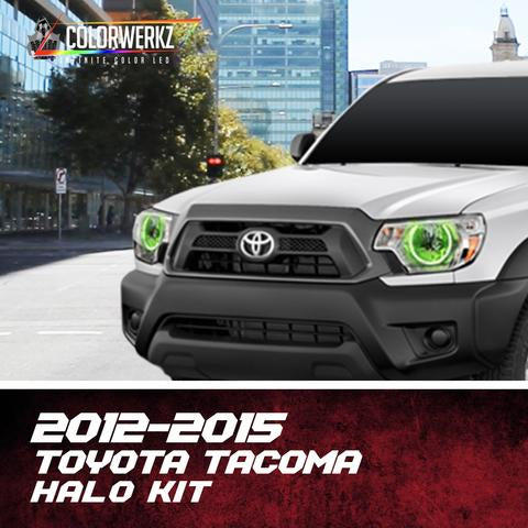 2012-2015 Toyota Tacoma Color-Chasing Halo Kit LED headlight kit  AutoLEDTech Colorwerkz Oracle Starry Night Flashtech