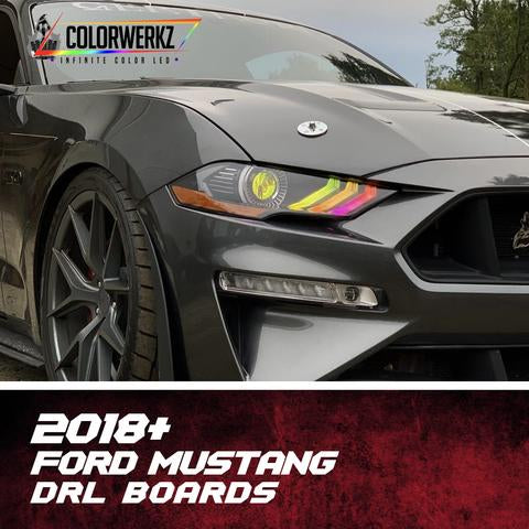 2018-2020 Ford Mustang Color-Chasing/RGBW +A LED DRL Boards