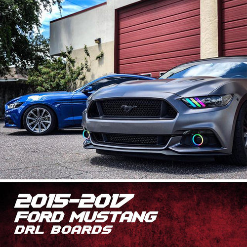 2015-2017 Ford Mustang Color-Chasing DRL Boards LED headlight kit  AutoLEDTech Colorwerkz Oracle Starry Night Flashtech