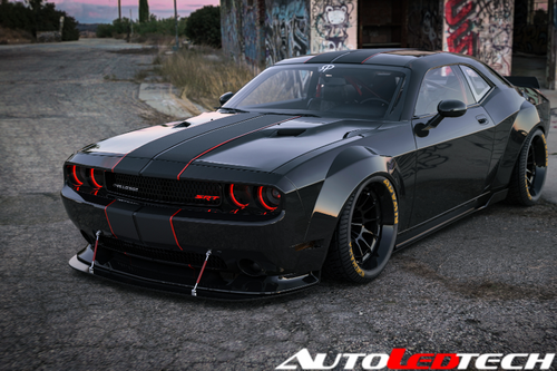 2008-2014 Dodge Challenger Color-Chasing Halo Kit
