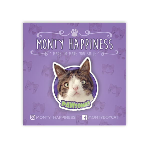 The PAWsome Monty Pin - Merchandise - Monty Boy