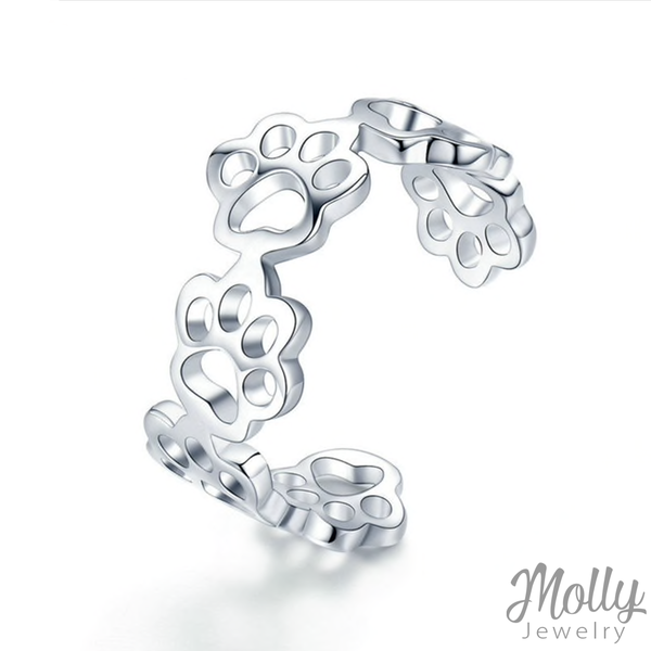 Kitty Paw Silver Ring - Jewelry - Monty Boy