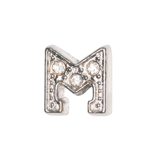 Silver & Crystal Letter M Charm - SPECIAL jewelry - Monty Boy