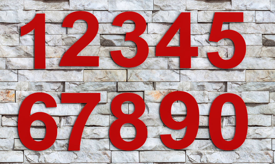 6 Inch RED House Numbers & Letters