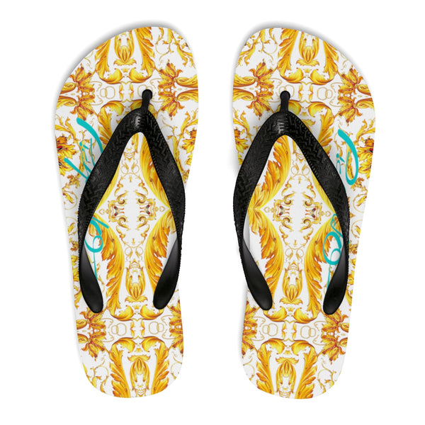 Verano Luxe Flip-Flops White and Gold (Men's)