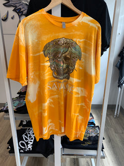 Bleached Yellow Half Skull Savage