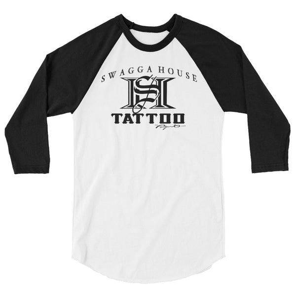 Swagga House Tattoo Black Logo Baseball Tee