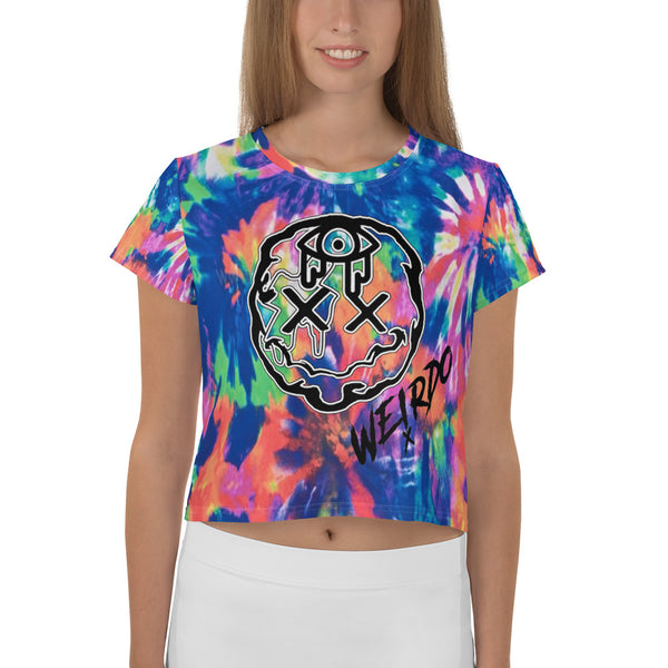 Light Tie-Dye Crop Tee Weirdo (Women's)