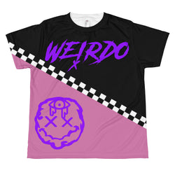 Youth Full Print Pink, Black and Checkered Weirdo Tee