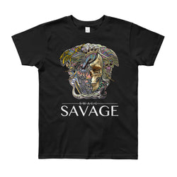 Youth Half Skull Savage Shirt (More Colors Available)