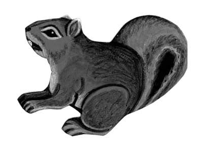 Gray Squirrel Leather Magnet