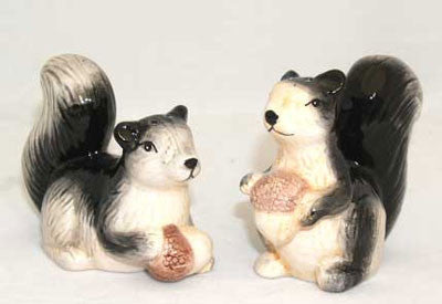 Squirrel Salt and Pepper Shakers