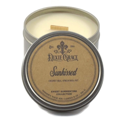 Sunkissed - Tin - Wooden Wick Candle