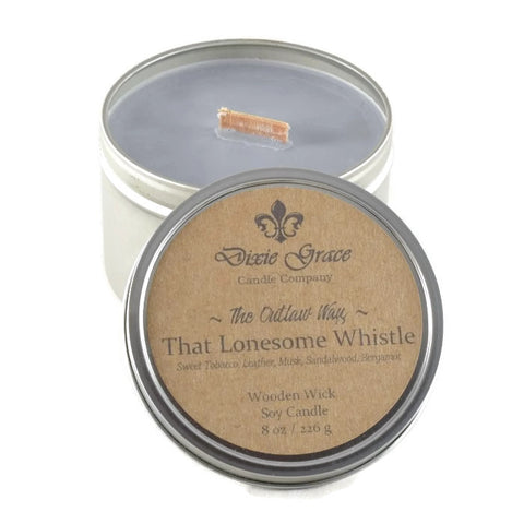 That Lonesome Whistle - Tin - Wooden Wick Candle