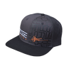 Foose Pattern Mesh Snapback - Charcoal/Black with Black Pattern
