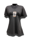Girly Oil Can V Neck Tee - Charcoal