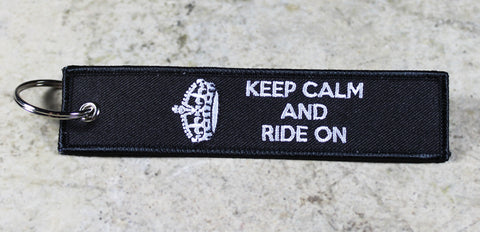 Keep Calm and Ride On - Original MotoMinds Key tag