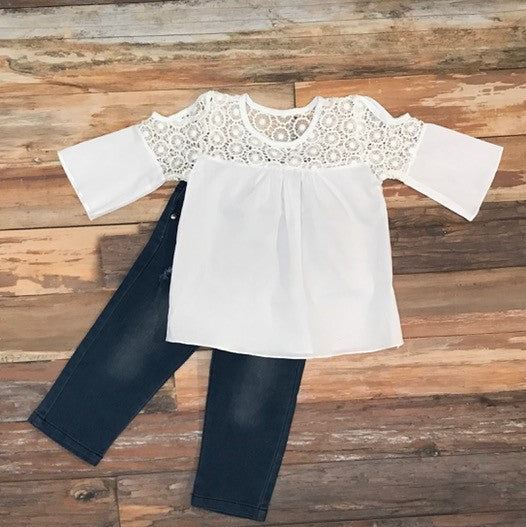 Girls Fashion. Toddler Girl Outfit. Girls Boho Clothes