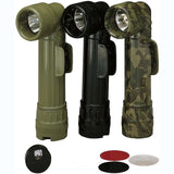 Olive Drab - Genuine GI Military D-Cell Anglehead Flashlight - USA Made