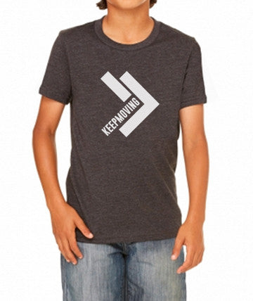 Youth Keep Moving Charcoal Tri-Blend Tee