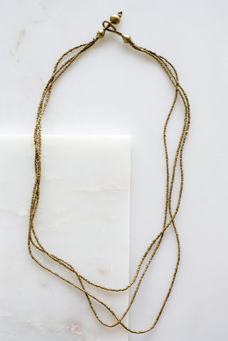 Aklesia Single Strand Silver Necklace
