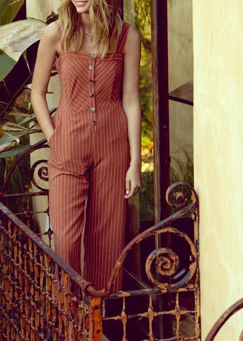 Striped Knit Jumpsuit