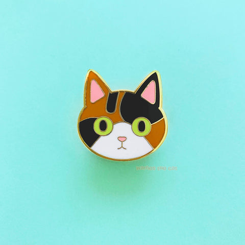 Calico Cat Enamel Pin