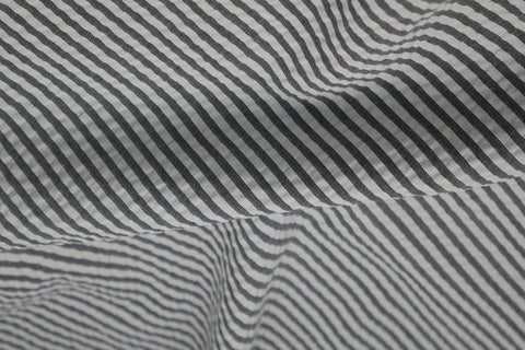 Black & White Stripe Seersucker Fabric