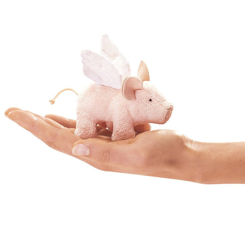 Folkmanis Mini Piglet, Winged Finger Puppet - 2685 - Peazz Toys