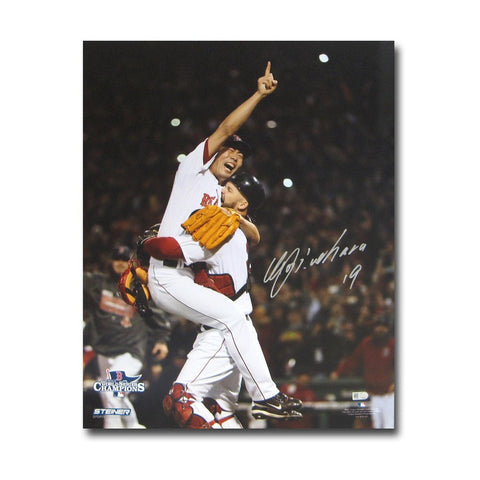 Autographed Koji Uehara 16x20 unframed 2013 World Series photo. - Peazz Toys