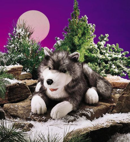 Folkmanis Wolf, Timber Hand Puppet - 2171 - Peazz Toys