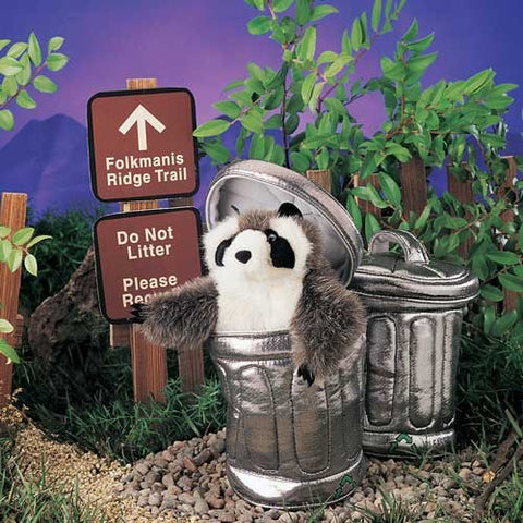Folkmanis Raccoon In Garbage Can Hand Puppet - 2321 - Peazz Toys