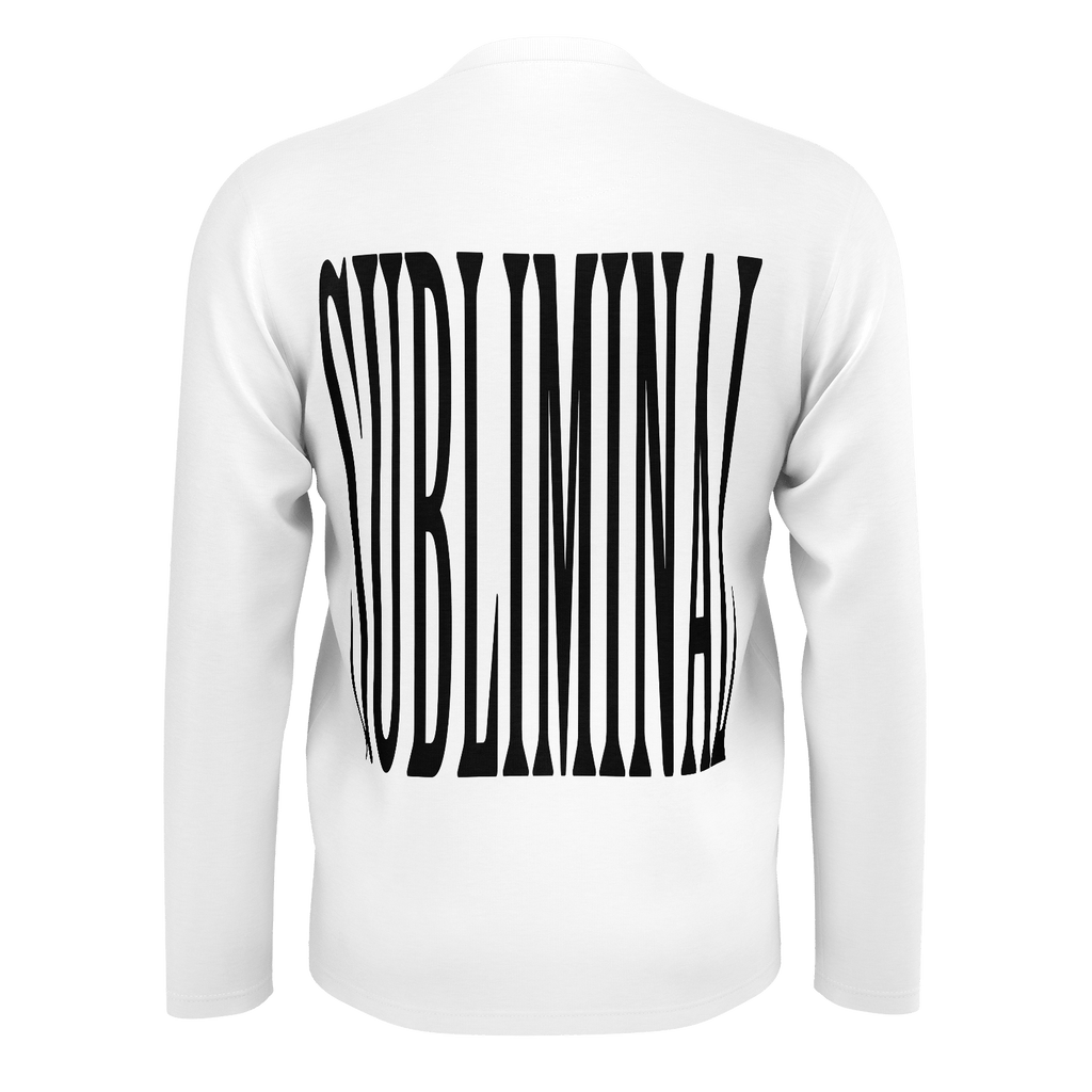 SUBLIMINAL stretched lettering long sleeve tee