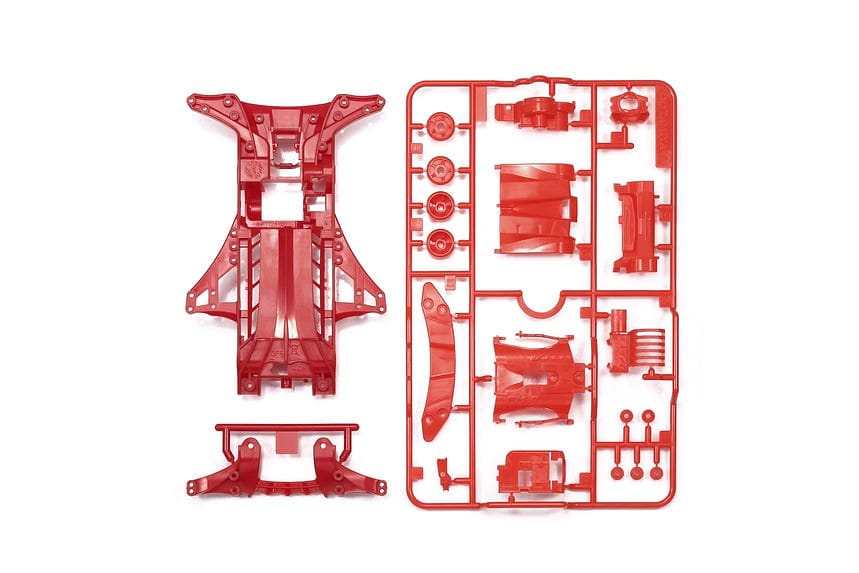 TAMIYA 95411 JR FM-A CHASSIS SET RED