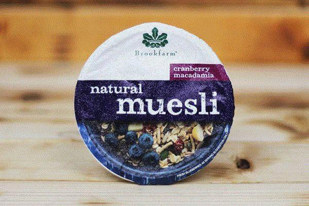 Brookfarm Natural Cranberry Macadamia Muesli Tub 75g Pantry > Granola, Cereal, Oats & Bars