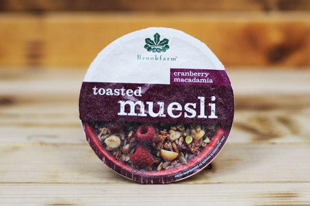 Brookfarm Toasted Cranberry Macadamia Muesli Tub 75g Pantry > Granola, Cereal, Oats & Bars