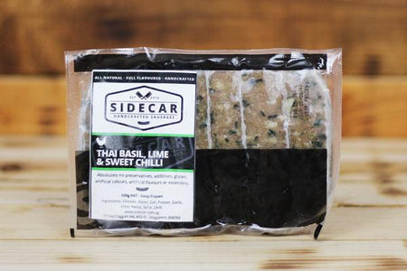 Sidecar Sausages Thai Basil, Lime & Sweet Chilli Sausage 500g Meat > Sausage