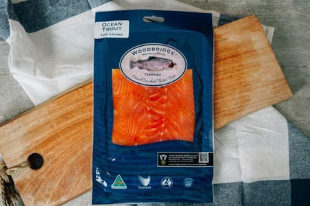 Woodbridge Smokehouse Cold Smoked Ocean Trout Salmon 100g Seafood > Fish