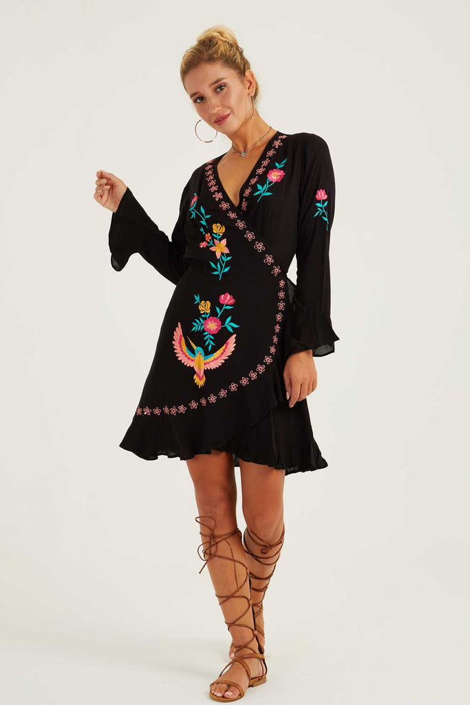 Wanderlust Mini Wrap Dress