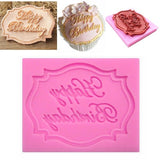 Happy Birthday Silicone Mould Cake Decorating